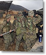 Marines Load A 98-pound High Explosive Metal Print