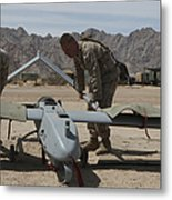 Marines Move An Rq-7 Shadow Unmanned Metal Print