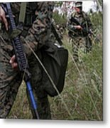 Marines Patrol The Central Training Metal Print