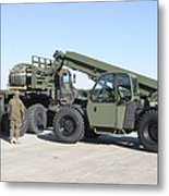 Marines Pick Up Palletized Logistics Metal Print