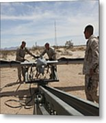 Marines Place An Rq-7 Shadow Unmanned Metal Print