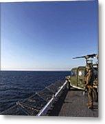 Marines Provide Defense Security Metal Print