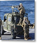 Marines Provide Security Aboard Metal Print