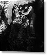 Marines Share A Foxhole With An Orphan Metal Print