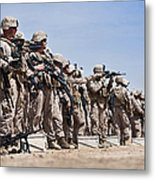Marines Verify The Battle Sight Zeroes Metal Print