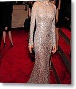Marion Cotillard Wearing A Silver Metal Print