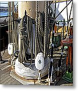Maritime Pulley And Rope Work Metal Print