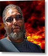 Mark In Red Metal Print