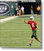 Mark Sanchez Ny Jets Quarterback Metal Print