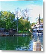 Mark Twain Riverboat At Disneyland Metal Print
