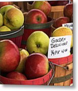 Market Apples Metal Print