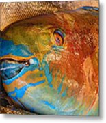 Market Fresh Fish Metal Print
