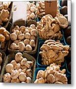 Market Mushrooms Metal Print