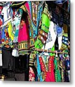 Market Of Djibuti With More Colors Metal Print by Jenny Senra Pampin