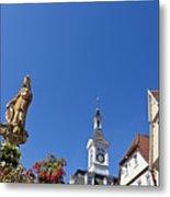 Market Square In Aalen, Germany Metal Print