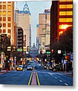 Market Street In The Morning Metal Print