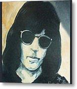 Marky Ramone The Ramones Portrait Metal Print by Kristi L Randall