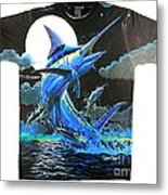 Marlin Moon Mens Shirt Metal Print