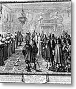 Marriage Contract, 1645 Metal Print