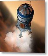 Mars Exploration, Artwork Metal Print