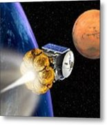 Mars Express Booster Rocket, Artwork Metal Print