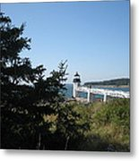 Marshall Point Lighthouse Metal Print by Debra LePage