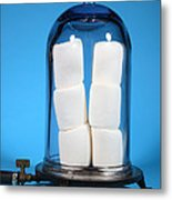 Marshmallows In A Vacuum, 5 Of 5 Metal Print