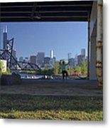 Martial Arts In The City Metal Print