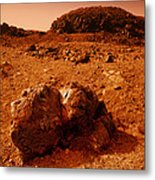 Martian Landscape Metal Print