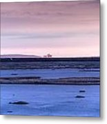 Martian Outpost Abandoned Zone Metal Print