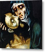 Mary And Jesus Painting At Peace Center Metal Print