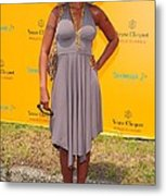 Mary J. Blige At A Public Appearance Metal Print