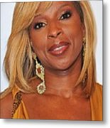 Mary J. Blige In Attendance For 2nd Metal Print by Everett