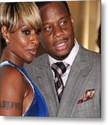 Mary J. Blige, Kendu Isaacs At Arrivals Metal Print