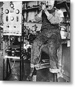 Mary Loomis, Radio School Operator Metal Print
