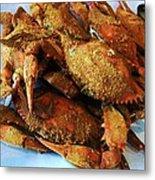 Maryland Steamed Crabs Metal Print
