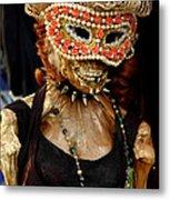 Mask Ball Metal Print