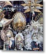 Masks in Venice Italy Metal Print