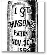 Mason Jar Metal Print