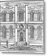 Masonic Hall, C1830 Metal Print