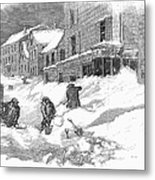 Massachusetts: Blizzard Metal Print
