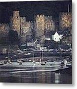 Massive Eight-towered Castle Looms Metal Print