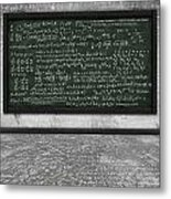 Maths Formula On Chalkboard Metal Print