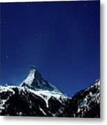 Matterhorn Switzerland Blue Hour Metal Print