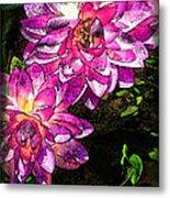 Maui Pink Garden Metal Print