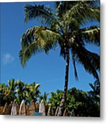 Maui Surfboard Fence - Oldest Section Metal Print
