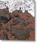 Mauis Red Shoreline Metal Print