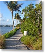 Maule Lake Walkway Metal Print