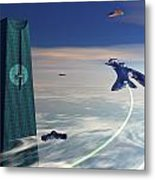 Maximus Space Port Metal Print