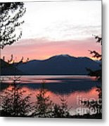 May Sunset On Kootenay Lake Metal Print